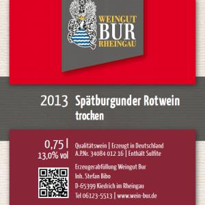 2013 Spätburgunder Rotwein trocken