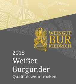 2018 Weißer Burgunder Weingut Bur