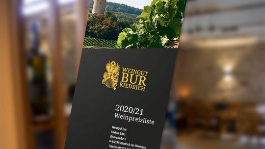 Weinpreisliste 2020/21